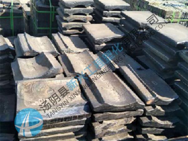 卸煤沟防粘辉绿岩铸石板